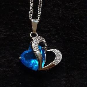Jewelry - Sept. birthstone heart necklace